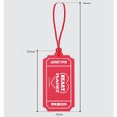Size - After The Rain Heart planet ticket travel luggage name tag