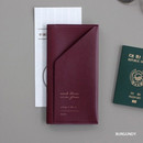 Burgundy - Iconic Slit passport cover case holder wallet