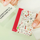 White fox - Willow story pattern flat card case holder ver2