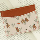 Pink bear - Willow story pattern flat card case holder ver2