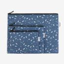 Laminated cotton fabric zipper pouch - Universe