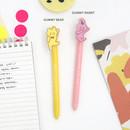 Gummy bear and Gummy rabbit - Acrylic black gel pen 0.5mm
