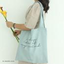 Eggshell blue - Mind linen fabric daily shoulder bag