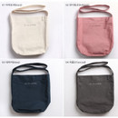 Color - La vie est belle canvas fabric shoulder bag