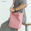 02 Indi Pink - La vie est belle canvas fabric shoulder bag