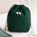 Green - Livework Som Som stitching drawstring pouch