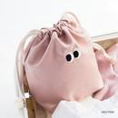 Indi pink - Livework Som Som stitching drawstring pouch