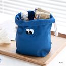 Blue - Livework Som Som stitching drawstring pouch