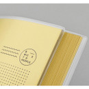 Translucent PVC cover - Movie Book Travel review record notebook