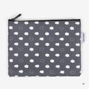 Medium - Laminated cotton fabric zipper pouch - Skunk fart
