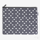 Large - Laminated cotton fabric zipper pouch - Skunk fart
