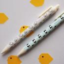 Flying Waikiki pattern knock black ink 0.38 mm ballpoint pen