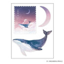 Dreaming whale - PLEPLE Dreaming travel deco sticker