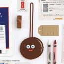 01 Choco pompom - popeye travel luggage name tag