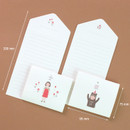 Size of Happy folded letter card set