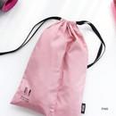Pink - Split hair straightener flat iron drawstring pouch