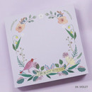 Violet - Indigo Willow flower pattern memo notepad