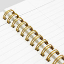 Detail - Cute illustration A5 spiral lined notebook