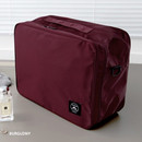 Burgundy - Two way trunk travel organizer pouch bag