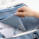 Right - Detachable velcro Toiletry mesh zipper pouch