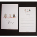 C - Hello Today Hushed brown message post card