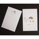 D - Hello Today Hushed brown message post card
