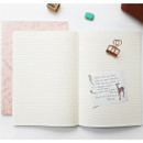 O-check Le cahier little boy and girl large lined notebook