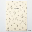 Cream - O-check Le cahier floral medium dot grid notebook