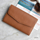 Caramel - Allday mate genuine cowhide leather clutch wallet
