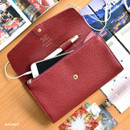 Burgundy - Allday mate genuine cowhide leather clutch wallet
