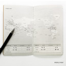 World map - O-check Light travel daily planner notebook