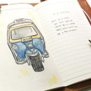 Free note - O-check Light travel daily planner notebook