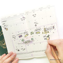 Monthly plan - O-check Light travel daily planner notebook