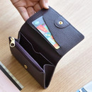 Dark wine - Allday genuine cowhide leather card wallet