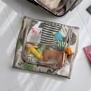 Beige - Travelus mesh packing organizer bag XL ver3