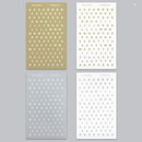 Gold and Silver - Alphabet and Number paper sticker set