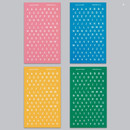 4 colors - Alphabet and Number paper sticker set