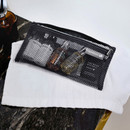 Charcoal gray - Byfulldesign Travelus slim long mesh pouch ver4