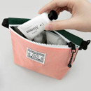 Pink - Washer zipper pouch with wrist strap