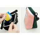 Washer zipper pouch with wrist strap