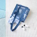 Blue gray -  Travelus mesh shoulder tote travel bag