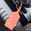 Coral pink - Away we go travel swing luggage name tag