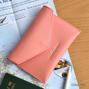 Coral pink - Away we go swing RFID blocking passport case