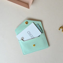 Baby mint - Lovelyborn synthetic leather card case holder