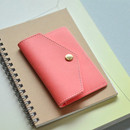 Sweet peach - Lovelyborn synthetic leather card case holder