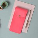 Scarlet pink - Lovelyborn synthetic leather pocket pencil case