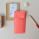 Sweet peach - Lovelyborn synthetic leather pocket pencil case