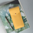 Mint yellow - Lovelyborn synthetic leather pocket pencil case