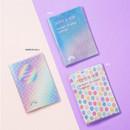 Blue, Mirror ball, Dot - Rainbow hologram passport case holder