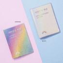 Original, White - Rainbow hologram passport case holder